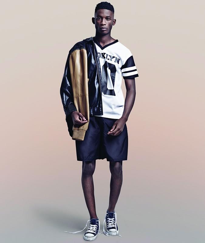 Look sportivo nero e bianco